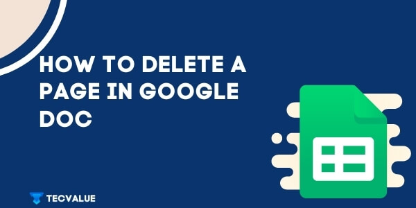 How to delete a page in google doc