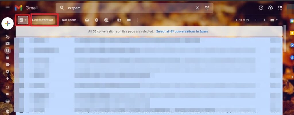 Stop spam email